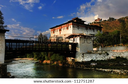 Paro's Dzong, Bhutan - stock photo