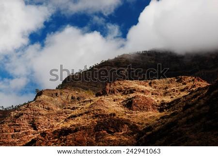 Parque Natural de Pilancones, Gran Canaria, Spain - stock photo