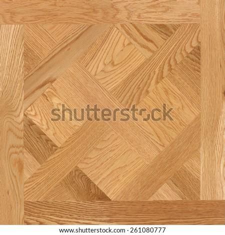 Parquet Wood seamless pattern floor tile - stock photo