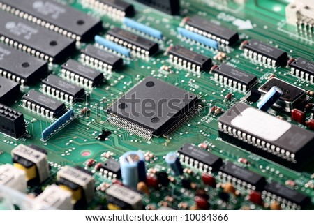 part computer PCI chip - stock photo