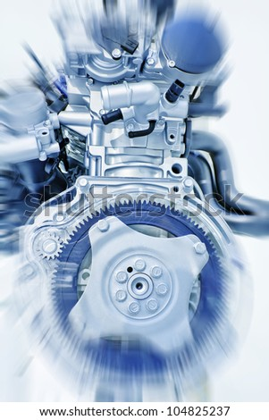 Part of a car engine - stock photo