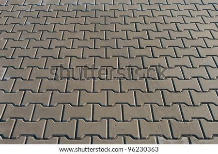 part of a concrete pavement - stock photo