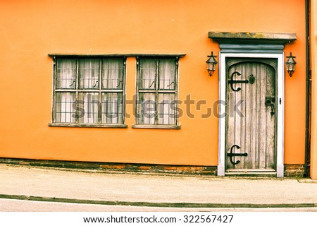 Part of a medieval english cottage - stock photo