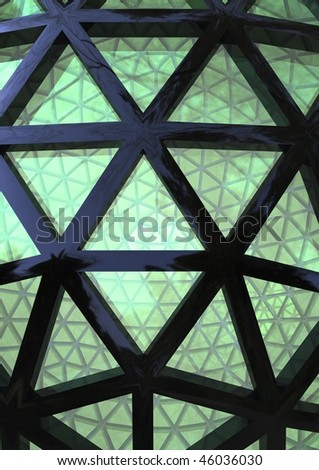 part of abstract dome - stock photo