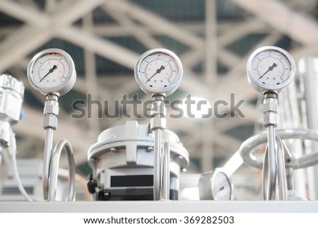 Part of an industrial packing machine - stock photo