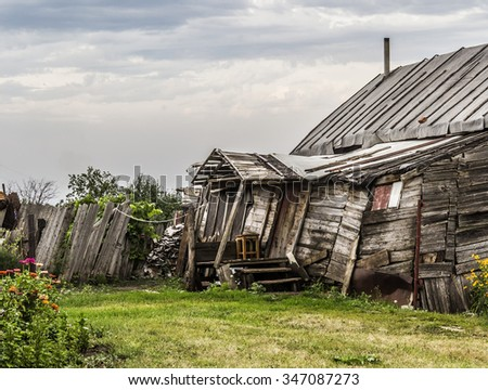 Part of an old farmhouse - stock photo