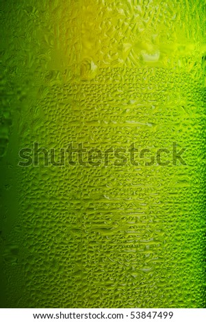 Part of beer bottle on white background - stock photo