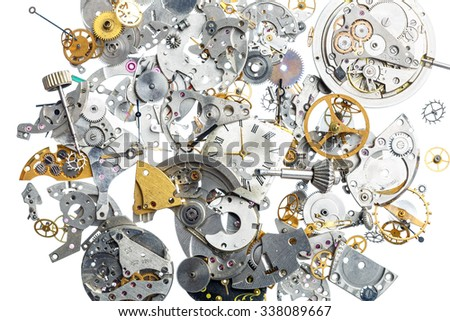 Part of broken old watch - stock photo