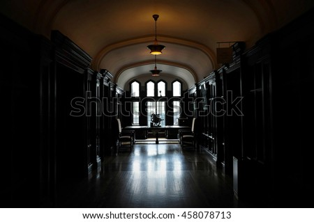 Part of Casa Loma interior. Casa Loma is a Gothic Revival castle-like building that has become one of the most famous landmarks of Toronto, major Canadian city. Toronto, Canada. 2016/06/20 - stock photo