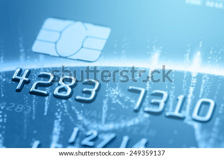 part of credit card for business background - stock photo