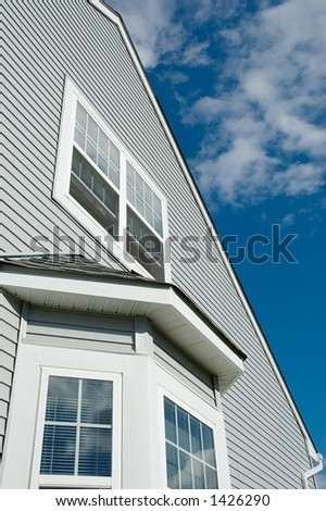 part of dreamhouse against blue sky - stock photo