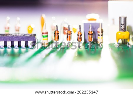 part of electronic circuit - stock photo