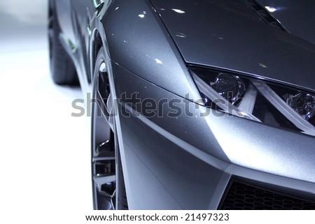 Part of futuristic design car - stock photo