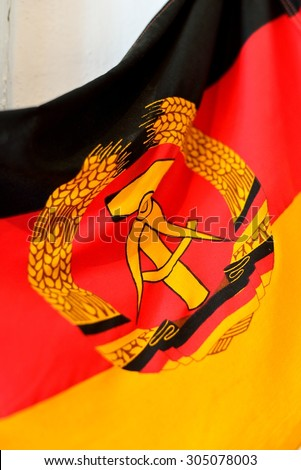 Part of GDR (DDR) Flag - stock photo