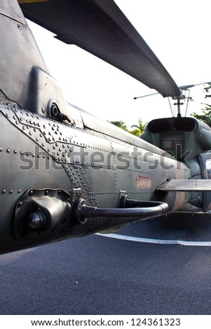 Part of Helicopter Combat - stock photo