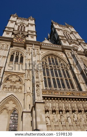 Part of houses of parliament building, Westminster London - stock photo