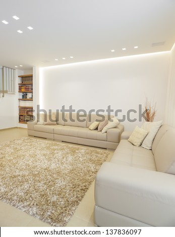 Part Of Luxury Modern Living Room This Image Was Taken From Three Different Shots - stock photo