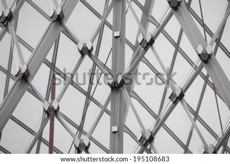 Part of modern architecture - steel and glass - stock photo