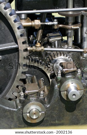 part of old engine - stock photo