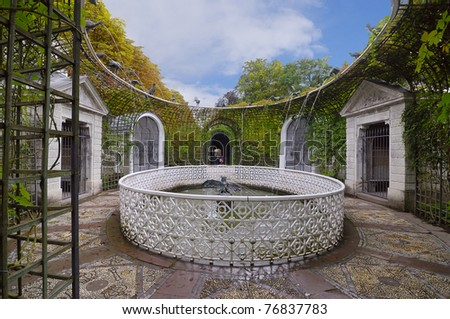 "Part of Schwetzingen Castle's  ""French"" - garden - second half of the 18 th century.  Germany, Baden-Wurttemberg. - stock photo"