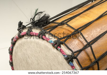 Part of Thai's ancient drum - stock photo