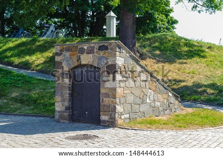 Part of the Castle of Akershus, Norway - stock photo