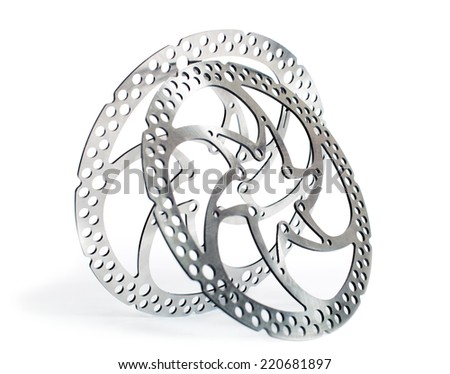 Part of the mtb disk brakes - stock photo