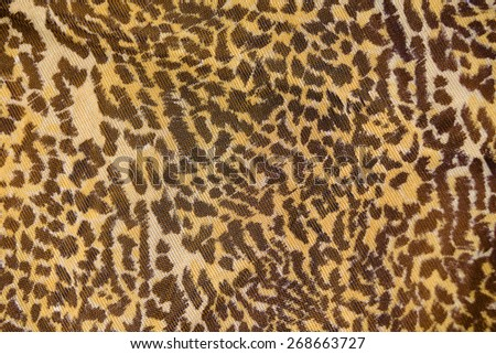 Part of the surface the nylon scarf with animal pattern. macro photography - stock photo