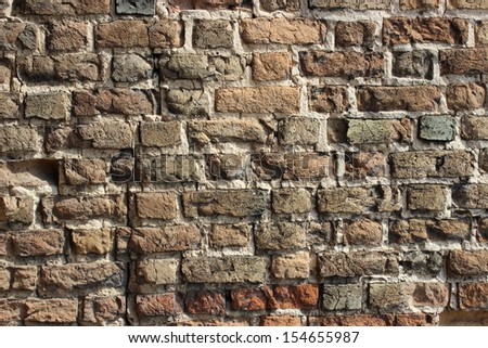 Part of the walls of the castle in Lutsk - stock photo