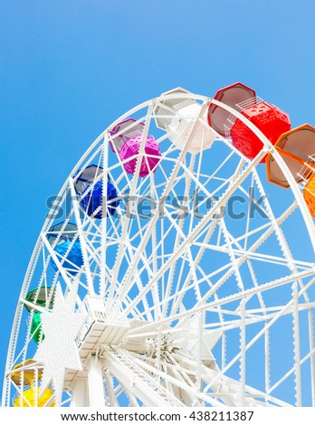 Part of Tibidabo's ferris wheel - stock photo