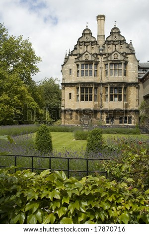 Part of Trinity College, Oxford, UK - stock photo