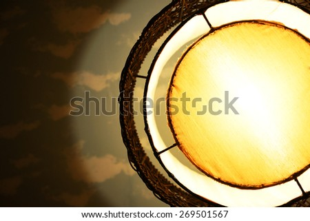 Part of vintage lantern for frame and background  - stock photo