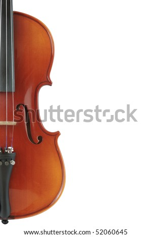 Part of  violin - stock photo