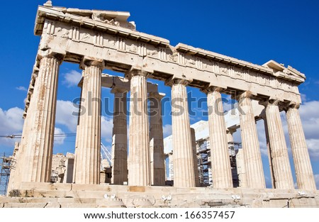 Parthenon, Acropolis of Atheens, Greece - stock photo