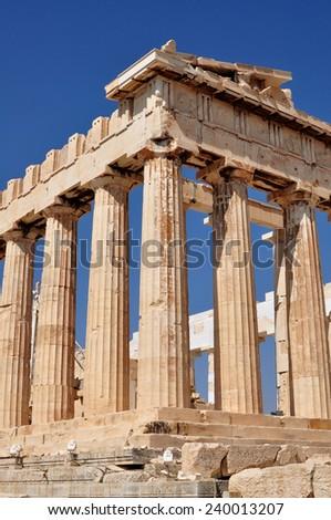 Parthenon on Acropolis in Athens, Greece - stock photo
