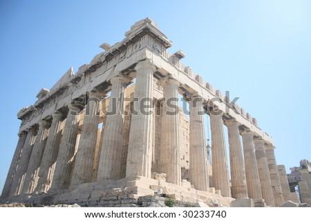 Parthenon temple at Athens, Greece - stock photo