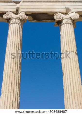 Parthenon, temple on the Athenian Acropolis, Athens - stock photo