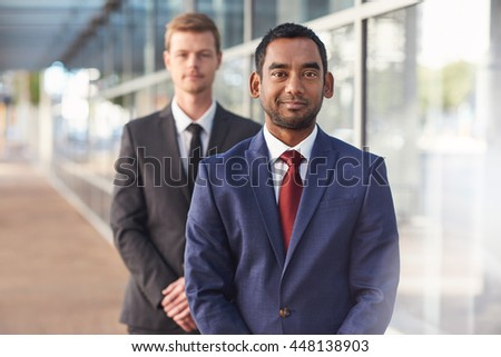 Partners in the corporate business world - stock photo