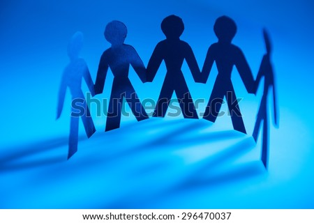 Partnership, Paper Chain, Togetherness. - stock photo