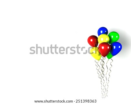 Party air balloon - stock photo