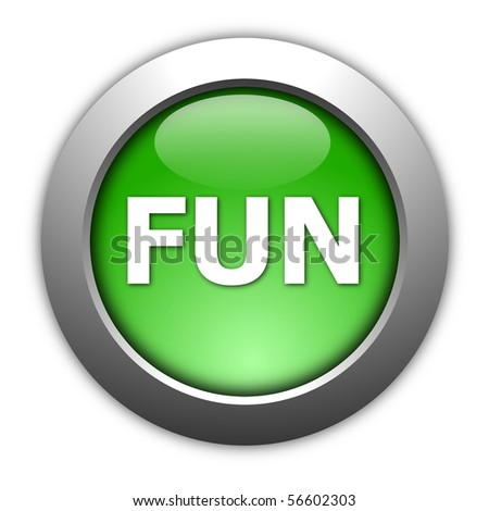party and fun button isolated on white background - stock photo