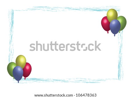 Party balloon frame - stock photo