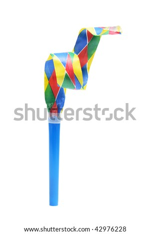 Party Blower on Isolated White Background - stock photo