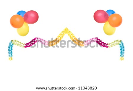 party border isolated on white background, please have a look at my similar images - stock photo