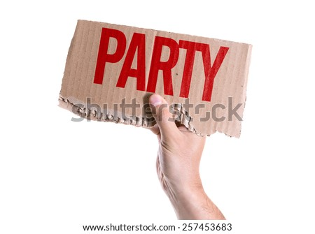 Party card isolated on white background - stock photo