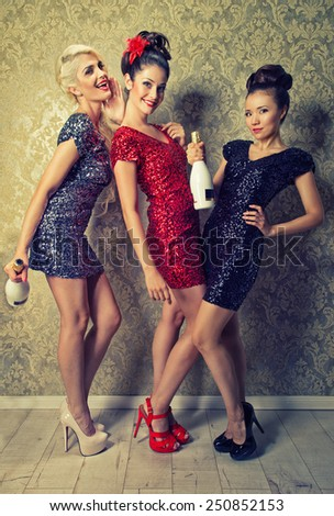 party chicks - stock photo
