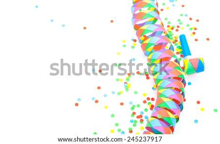 Party decoration background - stock photo
