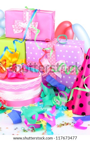 Party decoration close up - stock photo