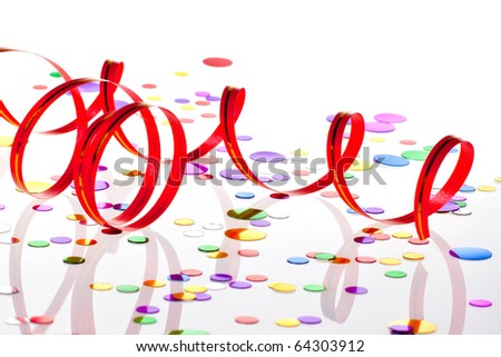 Party decoration on white background - stock photo