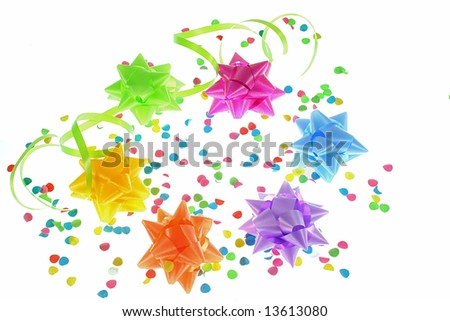 party equipment on white background as sample for my isolated party images - stock photo
